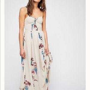 FREE PEOPLE Beau Smocked Slip Dress